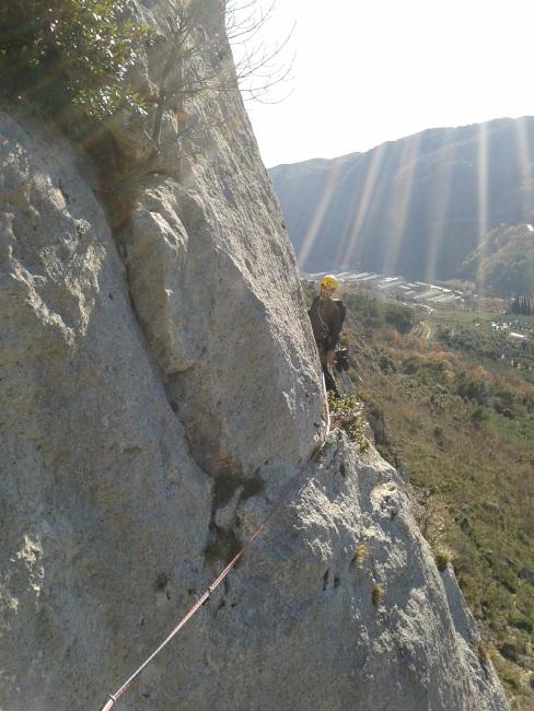 Rocca Perti Finale arrampicata inverno