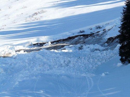 Distacco di neve bagnata