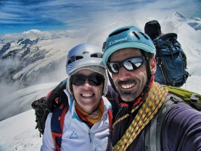 In vetta Breithorn Occidentale