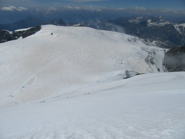Breithorn Occidentale pendio finale