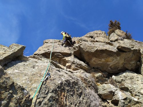 Arrampicare in inverno a Lities