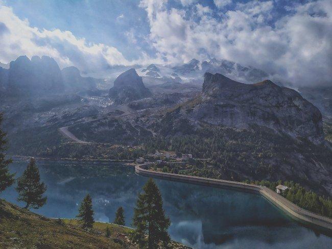 Lago di Fedaia e Marmolada